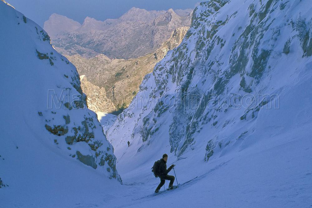Marcos Molina esquí Mallorca Puig Major